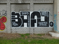Bafo (oerendhard1) Tags: graffiti streetart urban art rotterdam oerendhard throw ups tags illegal vandalism bafo chairman germes gang baby faces ex plor