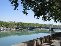 Rhône River and Pont Lafayette from Quai Jean Moulin, Lyon, France (Paul McClure DC) Tags: lyon france july2017 auvergnerhônealpes historic architecture river scenery rhône presquîle