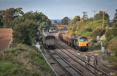 47237 waiting at Elford (robmcrorie) Tags: elford loop staffordshire addensa rail stockton tidal scrap class 47 freightliner advenza 47237