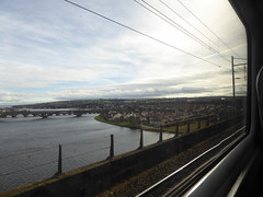 LNER HST window view. Berwick-upon-Tweed (20/3/19) (*ECMLexpress*) Tags: lner london north eastern railway hst intercity 125 43306 43318 royal border bridge berwick upon tweed ecml