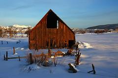 Bayfield, Colorado (Steve O'Day) Tags: colorado snow winter barn ranch canon sunrise decay southwest