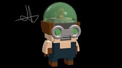 rat catcher (new 52 brick head) (Jacob Customs98) Tags: lego rat catcher dc brick head moc custom batman