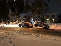 The day the car stood still (lezumbalaberenjena) Tags: car broken roto carro ford escape winter invierno frio cold nieve snow