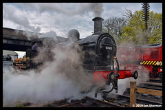 No 47406 14th April 2019 Great Central Railway Loughborough (Ian Sharman 1963) Tags: no 47406 14th april 2019 great central railway loughborough class 3f jinty 060 station steam engine rail railways train trains loco locomotive gcr heritage line leicester north quorn woodhouse the elizabethan dining