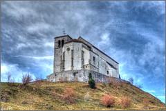 San Florean in Cjargne (Luciano Silei - sky7) Tags: hdr church carnia friuli winter sky clouds lucianosilei panasonicdmcfz200 panasonic lumix dmcfz200 landscape wideangle imponzo