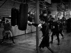 5144 - Training (Diego Rosato) Tags: boxe boxing pugilato boxelatina training allenamento sacco bag bianconero blackwhite fuji x30 rawtherapee