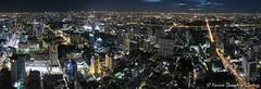 Bangkok by Night - Panoramic from Baiyoke Tower II (BeyondTheHill Photography) Tags: bangkok dingdaeng geo:lat=1375460569 geo:lon=10054050475 geotagged makkasan tha thaïlande nuit baiyoketowerii skyscraper panorama thaïlandela