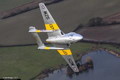 WZ507 / G-VTII - de Havilland Vampire T11 - Vampire Preservation Group (KarlADrage) Tags: wz507 gvtii dehavillandvampire vampiret11 vpg vampirepreservationgroup northweald airtoair a2a classicjet aviation
