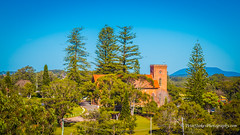 St Thomas' Anglican Church, Port Macquarie, NSW (Peter.Stokes) Tags: australia australian colour landscape nature outdoors photo photography colourphotography portmacquarie church tower cross trees anglican