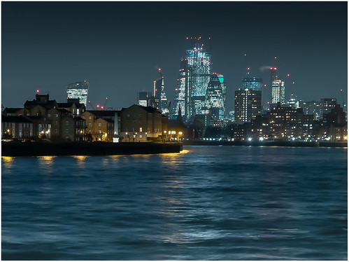 View across the Thames to Columbia Wharf from Westferry Circus, Canary Wharf 3