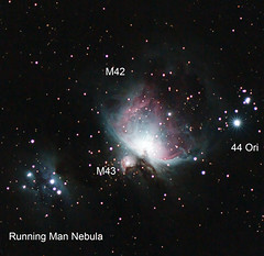 M42 and M43 (AstroBeard) Tags: astronomy astrophotography astrophysics deepskyvideos paper arxiv m42 m43 nebula nebulae molecular clouds collision messier orion constellation astrometrydotnet:id=nova3159251 astrometrydotnet:status=solved