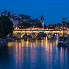 Pont Neuf Blue Hour (Oleg S .) Tags: seine night paris river water architecture france reflection flickr bridge