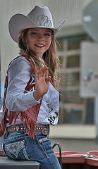 Wave & Smile (Scott 97006) Tags: cowgirl jeans hat wave smile female girl cute