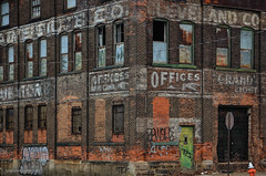Style and Era (gregador) Tags: cleveland clevelandcooperativestoveco facade industry decayed abandoned ghostsigns graffiti