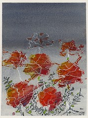Poppies 8 (Pax30091) Tags: arches aquarelle acuarela flower poppies inkt