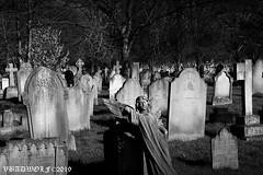 Graveyard -Streatham Cemetery (vbadwolf) Tags: statue angel angels grave graves graveyard gravestones goth gothic cemetery cemeteries streatham london south southlondon blackwhite architecture gravestone