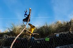 shrine to pollution and plastics (RCB4J) Tags: ayrshire ayrshirecoast clydecoast firthofclyde irvinebeach rcb4j ronniebarron scotland sony1650mmf28dtssm sonyslta77v art dogwalkingphotography dogs landscapes photography pollution shrine sculpture cow
