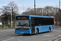 Edwards Llantwit Fadre BU16OZW. (EYBusman) Tags: edwards llanwit padre wales independent bus coach cardiff city centre mcv evolution volvo b8rle bu16ozw eybusman