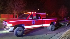 U93 (Central Ohio Emergency Response) Tags: washington township dublin ohio fire department truck rescue dodge ram utility pickup dually boat trailer water swift dive