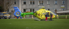SCAA (BUTEOGRAPHYGIRL) Tags: scaa helicopter charity rothesay yellow vibrant ambulance