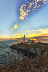 Portland Head Lighthouse (andrewryder) Tags: lighthouse light house lighthouses maine me 207 portland fort williams fortwilliamspark fortwilliams clouds sky sunrise goldenhour rocks ocean water