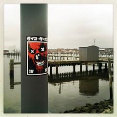 Psycozrcs in Holy Harbour. (DaWernRulez) Tags: streetart sticker heiligenhafen hipstamatic psycozrcs
