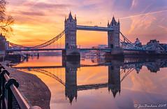Tower Bridge Sunrise Reflection (Explored) (_Jon Benham_) Tags: towerbridge london sunrise reflection 52of2017