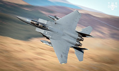 F-15E Strike Eagle (The Don Photography) Tags: aviation airforce jet military america strike eagle low level mach loop panning wales avgeek