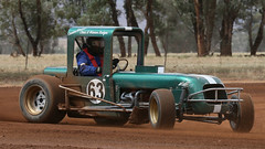 Badger Boys CHEV (2/3) (Jungle Jack Movements (ferroequinologist)) Tags: illabo showground motorsport park nsw new south wales australia riverina karts go kart cart soap box motor racing pass race speed car cars hottie track hard competition event saloon sports racer driver mechanic engine oil petrol build fast faster fastest grid circuit drive helmet marshal starter sponsor number class classic open wheeler 500 junee hoosier gm chev chevrolet v8 fun chris warren badger veteran speedcars vintage compacts modifieds sprintcar
