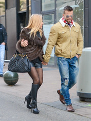 20190113-172725 (ze06) Tags: candid street cannes ruedantibes sexy girl gorgeous glamour fashion woman couple blonde fur leather shorts boots pantyhose heels stiletto