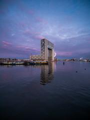 P1030708 (rpajrpaj) Tags: amsterdam cityscape nederland nederlandvandaag netherlands city sunrise bluehour thebluehour