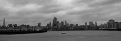 Thames and the City (Dan H Boyle Photography) Tags: thames river riverthames london canon canondslr 700d canon700d gbr city blackandwhite monochrome canarywharf