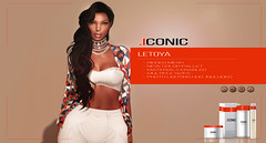 ICONIC.LETOYA.BANNER (Neveah Niu /The ICONIC Owner) Tags: mesh meshhair mainstore iconic iconichair iconiccouture neveahniu niu new secondlife second tlc ethinicsl 3dmesh 3dart events retro spring
