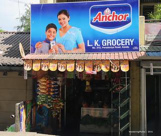"Small shop and large ""Anchor"" Advert Sign - Kandy Sri Lanka"
