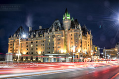 Fairmont Château Laurier Hotel (Oleh Khavroniuk (Khavronyuk)) Tags: nikon nikkor d750 canada ontario ottawa canadian capital hotel fairmont castle downtown building architecture winter night nightphotography nightshooters longexposure dark light lighttraces lighttravel red green yellow colors colours colorful digital new flickr road lines streetphotography streetphoto streetart streetlife luminosity urban art street city cityscape citylife cityview town travel holiday house geotagged