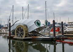 Professor Trash Wheel (Karol A Olson) Tags: professortrashwheel innerharbor baltimore maryland environment trash litter water boats 39environmentaltrash 119picturesin2019 waterwheel