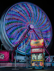 tickets (pbo31) Tags: eastbay alamedacounty bayarea california nikon d810 color night dark black april 2019 boury pbo31 oakland butler amuesments fair carnival ride lightstream spinning motion traveling panorama large stitched panoramic