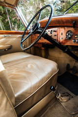 Rolls Royce Silver Wraith (aquanout) Tags: car vehicle motor auto automobile interior classic vintage leather wheel seat glass windows