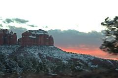 IMG_2878 (Karen Wilson Hagy) Tags: sedona redrocks oakcreekcanyon snow desert muledeer antlers clouds arizona