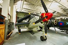 Fairey Gannet (Keith Coldron) Tags: aircraft aeroplane airplane propeller wheels hangar iwm museum duxford