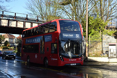 Stagecoach London 13076 (BJ15TWA) on Route 51 (hassaanhc) Tags: stagecoach stagecoachlondon stagecoachgroup alexander dennis adl enviro enviro400 e400 e400mmc enviro400mmc volvo b5lh
