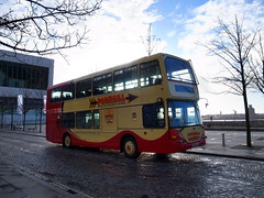 UK - Liverpool bus (onewayticket) Tags: bus transport urban maghullcoaches scania eastlancs eastlancsomnidekka yn56fde