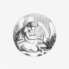 Vintage Leda and the swan illustration (Free Public Domain Illustrations by rawpixel) Tags: angel animal antique art arts artwork believe bird black blackandwhite cc0 character creativecommons0 decor decorative drawing element engraved engraving feather fineart fly flying god graphic graphite historic historical history illustration ink isolatedonwhite name painting pencil publicdomain retro saint sketch sketching victorian vintage whitebackground wings