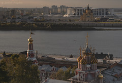 Nizhny Novgorod (Lyutik966) Tags: nizhnynovgorod russia city cityscape architecture building cathedral religion orthodoxy church dome belltower river volga water roof window cross stadium alexandernevskycathedral cathedraloftheblessedvirgin soe
