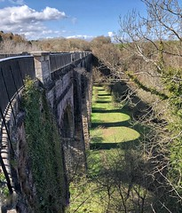 Union Canal - Avon Aqueduct (Mr_Pudd) Tags: trees railings railing parapet light arch arches parapets aqueduct shadow canal water steel scotland linlithgow unioncanal riveravon