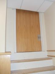 Door 067 (Sandor the Hun) Tags: door hospital steps droppedceiling 067
