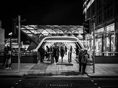 Canary Wharf Street (amipal) Tags: 175mm canarywharf capital city england europe gb greatbritain lightfestival london manuallens night uk unitedkingdom urban voigtlander