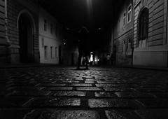 (ana_kapetan_design) Tags: bw blackandwhite street night dark light people