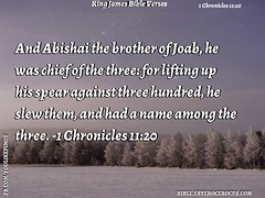 1 Chronicles 11:20 (jhungalang) Tags: 1 chronicles 1120