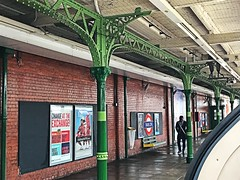 Fairlop ironwork (Matt From London) Tags: fairlop station tube centralline iron metal support platform green
